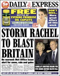 daily express snow